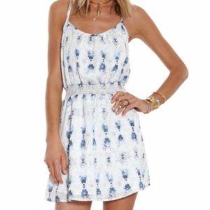 🐋BB Dakota Emma Dress In Baltic Blue Women's Sz L